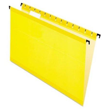 Esselte Pendaflex 615315YEL Poly Laminate Hanging Folders, Legal, 1-5 Tab, Yellow, 20 Per Box