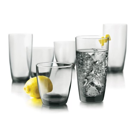 Libbey Glassware Thrive Smoke Glass Set, 16 Piece