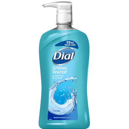 (2 Pack) Dial Body Wash with Moisturizers, Spring Water, 32 (Body Moisturizers Exfoliants)