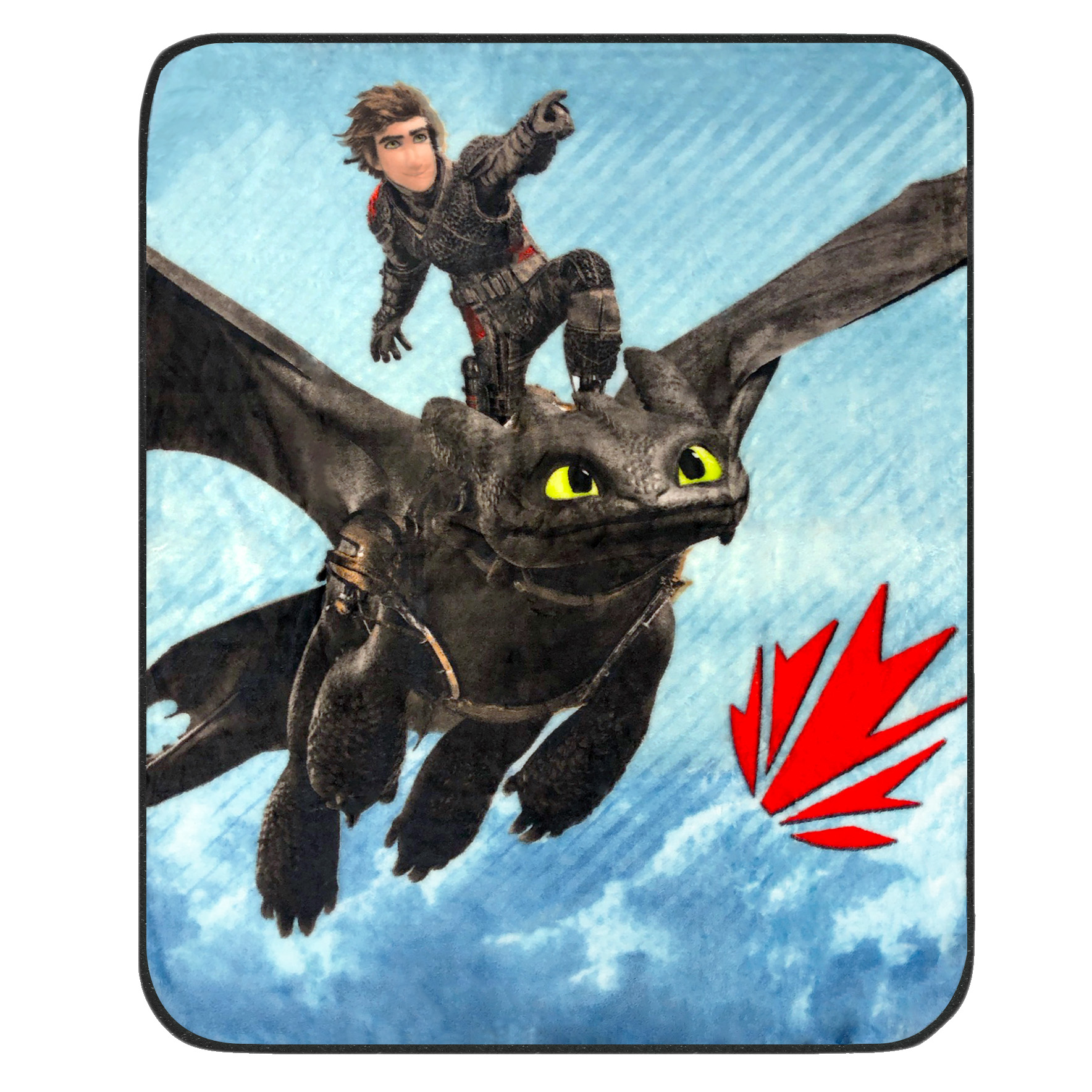 How to Train Your Dragon 3 Kids Silky Soft Throw, 40 x 50, Ride or Fly