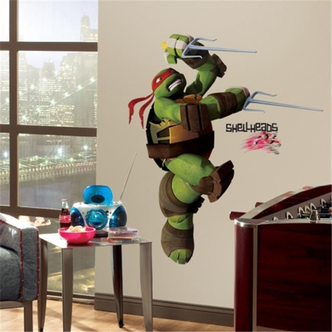 RoomMates RMK2251GM Teenage Mutant Ninja Turtles Ralph Peel & Stick Giant Wall Decals