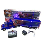 Big-Daddy Super Cool Series Extra Large Super Duty Tractor Trailer With Light & Music Colors may very Black & Blue)