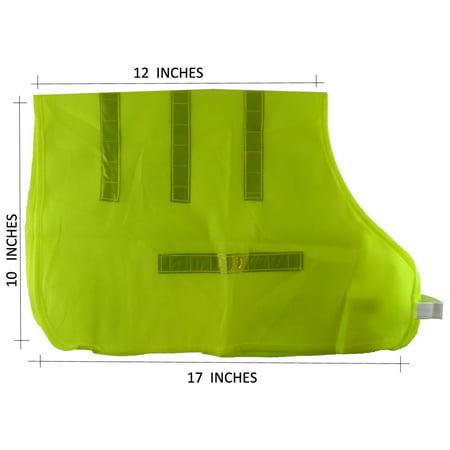 Buddy Neon Yellow Pet Vest with Reflective Strips 99 Neon Buddy Club