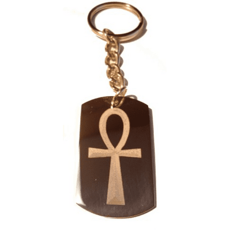 Classic Ankh Egyptian Egypt Cross Logo Symbols - Metal Ring Key Chain - Cross Key Chains