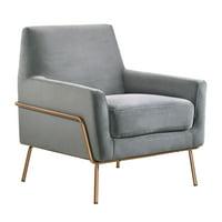 Society Den Kent Modern Accent Arm Chair (Grey)
