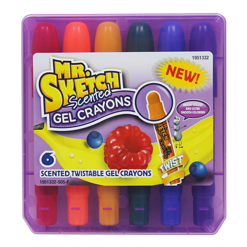 MR SKETCH SCENTED GEL CRAYONS 6 CT