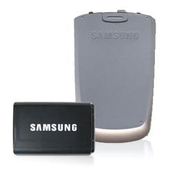OEM Samsung M500 Extended Battery & Silver Door