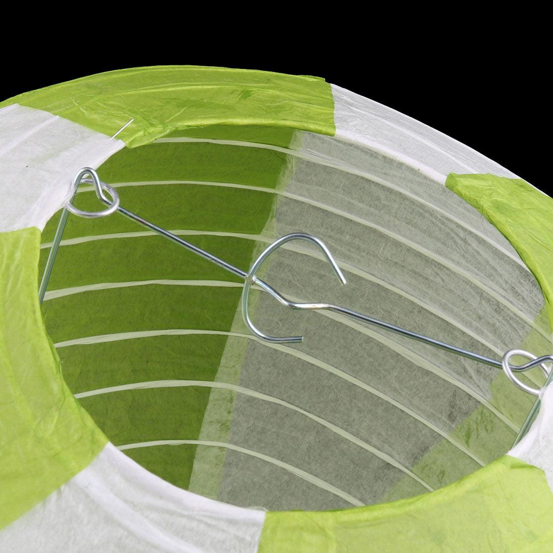 Festival Party Paper DIY Handmade Lightless Hot Air Balloon Lantern Green White - image 5 of 6