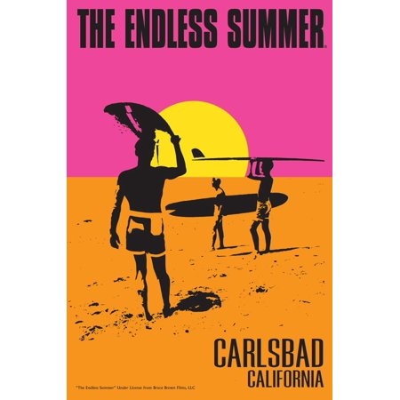 Carlsbad, California - The Endless Summer - Original Movie Poster Print Wall Art By Lantern (Carlsbad Mall)