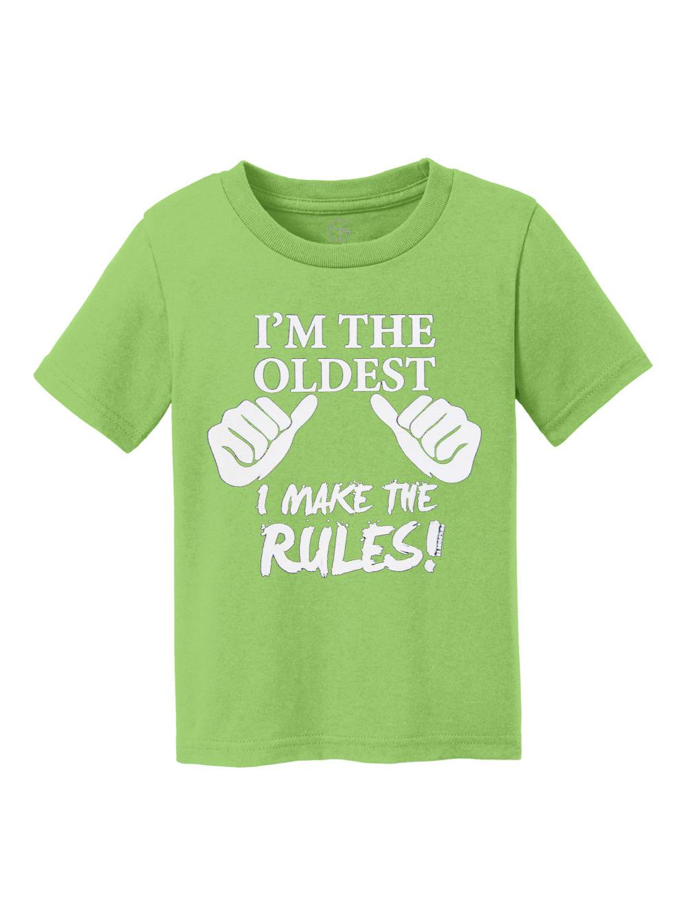 I'm the Oldest, I Make the Rules Youth Cotton T-Shirt