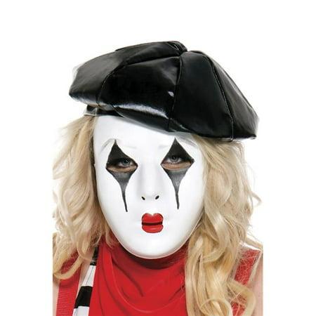 Music Legs 70691-WHITE French Mime Mask, White