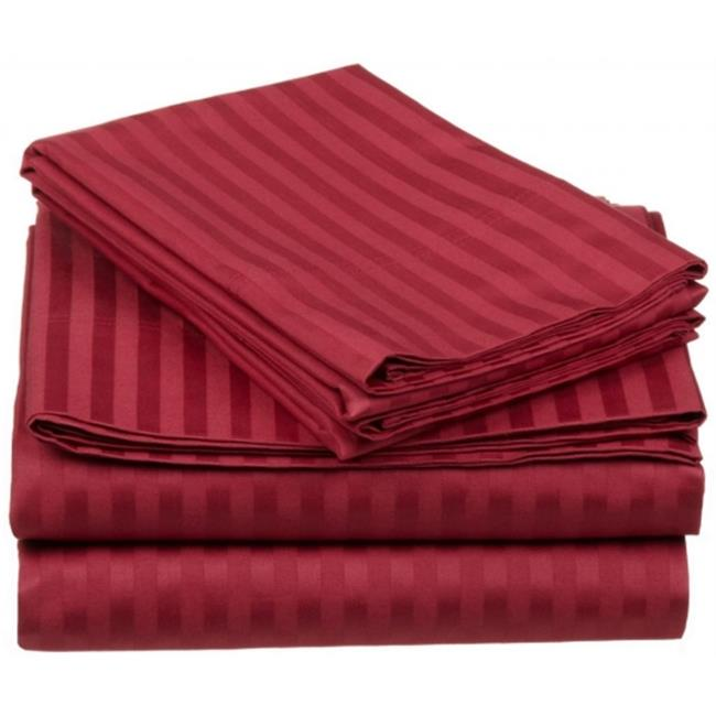Egyptian Cotton 650 Thread Count Stripe Sheet Set Olympic Queen