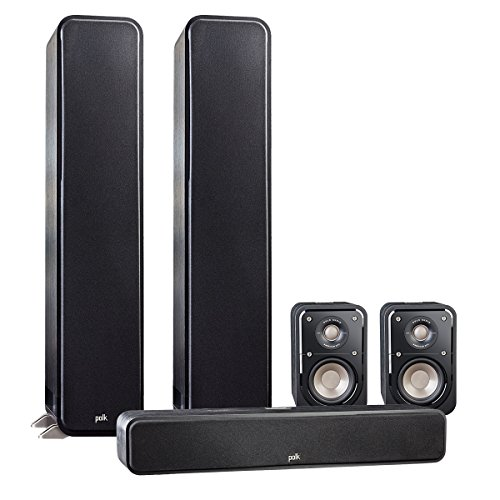 Polk Audio 5.0 Signature Series S60 Home Theater Package with S20 Bookshelf Speakers and S35 Slim Center Speaker (Black) by Polk Audio
