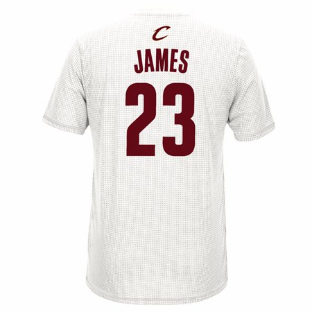Lebron James Cleveland Cavaliers NBA Adidas White 2016 Finals Gametime Shooter Aeroknit Climacool T-Shirt For Men (S)