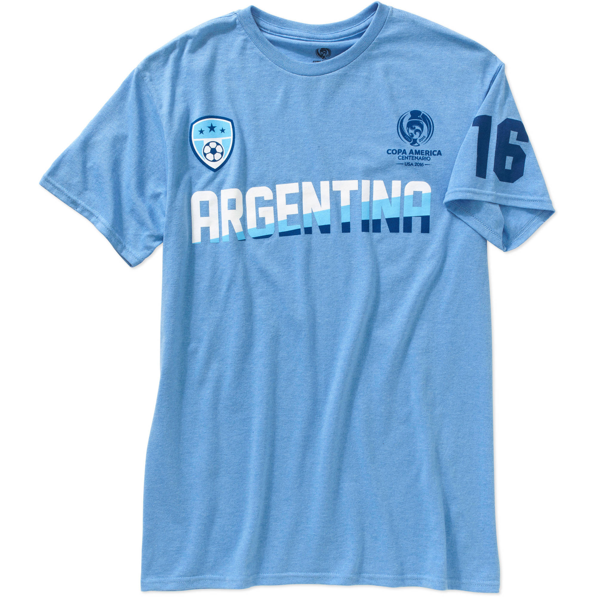 b357207534 Copa America - Copa America Men's Team Argentina Short Sleeve Tee -  Walmart.com