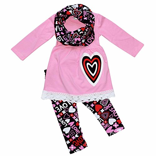 Unique Baby Unique Baby Girls Valentine S Day Outfit Layered Heart
