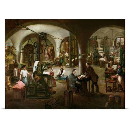 Great Big Canvas V Cornis Poster Print Entitled Factory In The Rue Daubagne  1861  Oil On Canvas