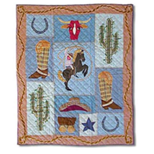 Patch Magic Thcwby Cowboy  Throw 50 X 60 Inch