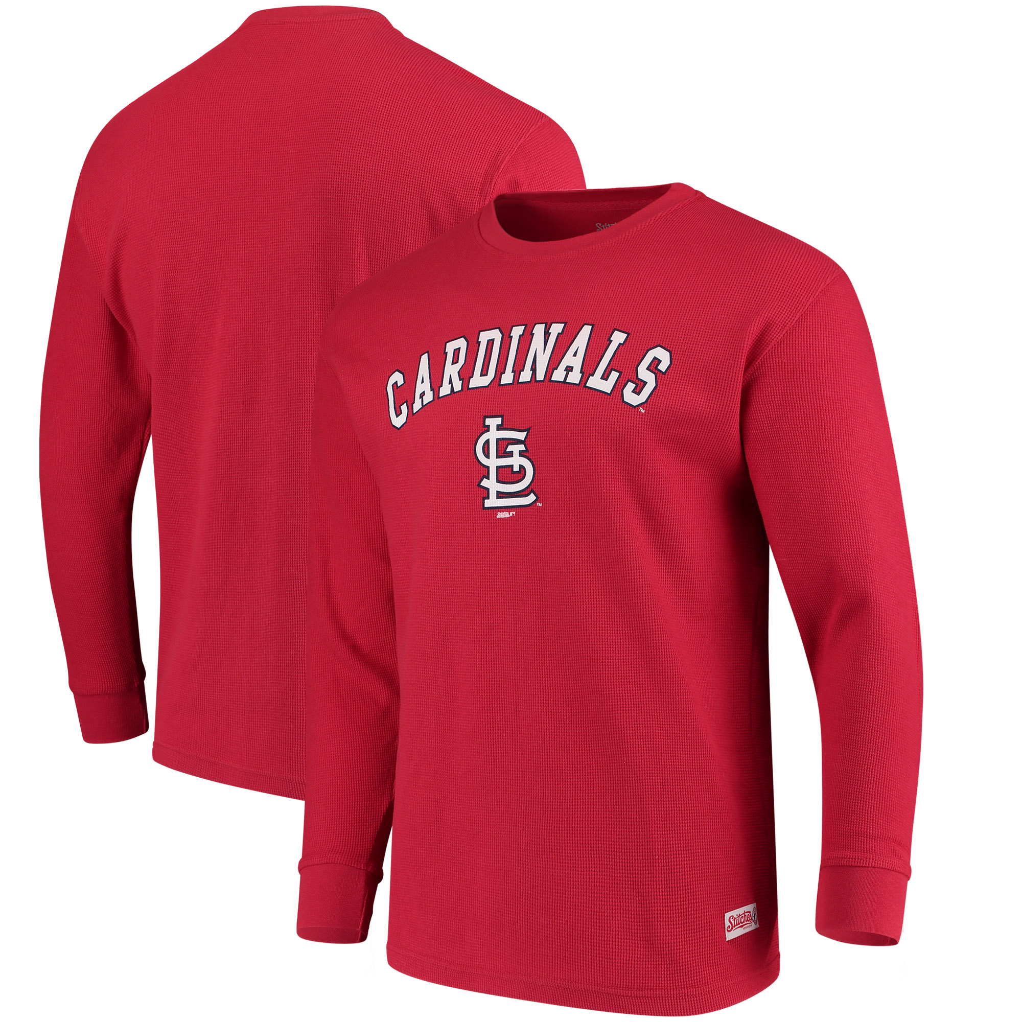 St. Louis Cardinals Stitches Long Sleeve Thermal T-Shirt - Red