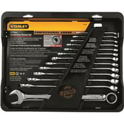 Stanley Set Wrench Comb Full Polish Pro Sae 13 Piece