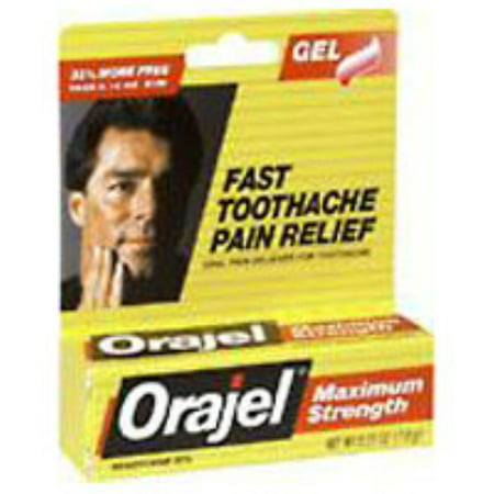 2 Pack - Orajel Force Maximum Gel Toothache Soulagement de la douleur 0,25 oz