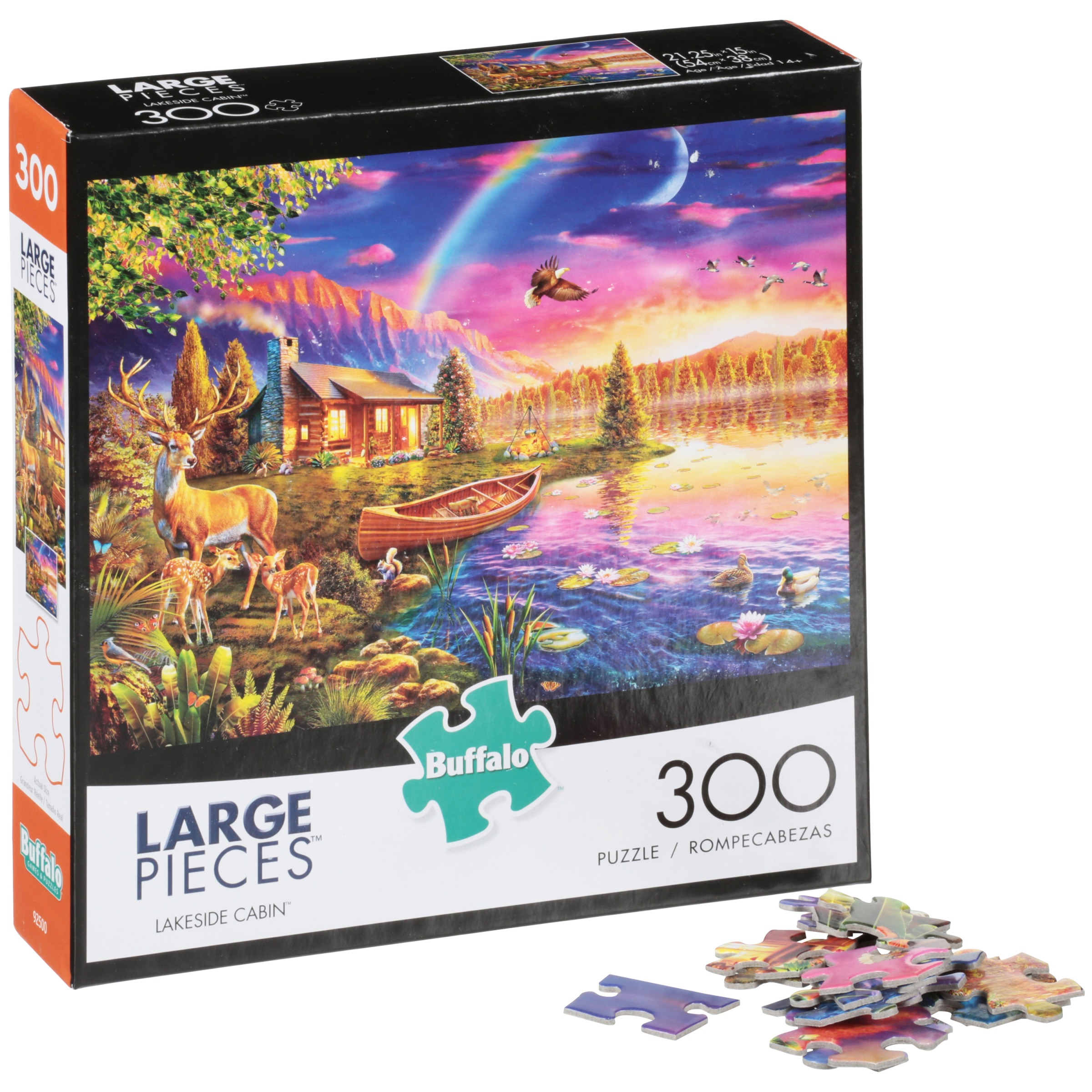 Buffalo Large Pieces Lakeside Cabin 300 pc Puzzle by Buffalo Games, LLC