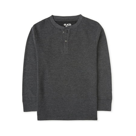 The Children's Place Boys 4-16 Long Sleeve Knit Shirt