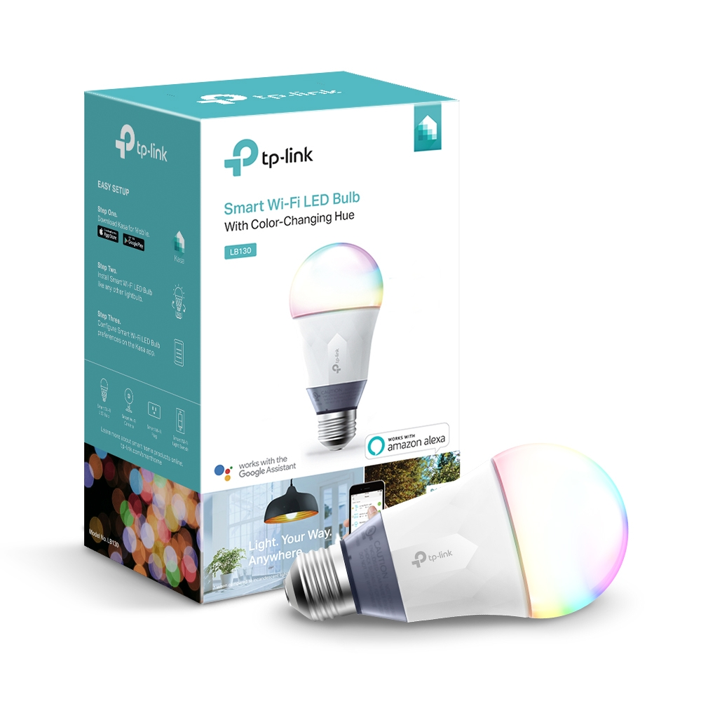 TP-Link LB130 Color Smart A19 Light Bulb, 60W Equivalent, No Hub Required