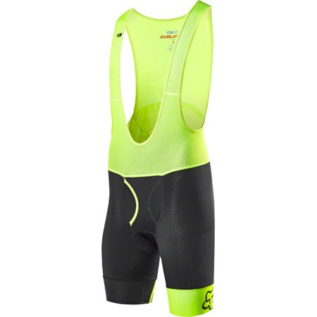 Fox Racing Evolution Pro Men's Bib Liner Short with Chamois Black XL ()