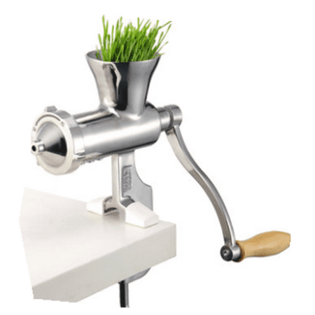 Manual Wheatgrass Juicer DIY Extractor Heavy Duty 304 Stainless Steel Auger Slow Squeezer Fruit Wheat Grass Vegetable Orange