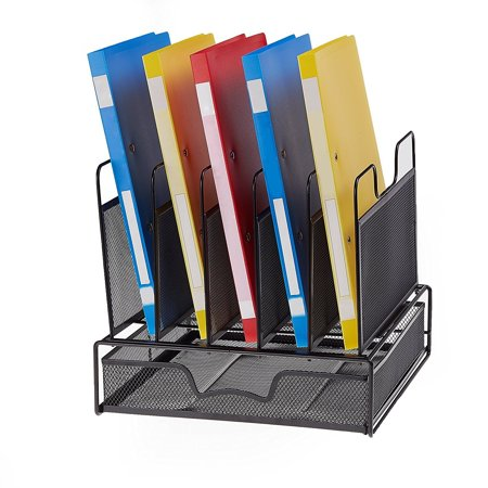 Proaid office mesh desktop organizer with 5 vertical sections desk proaid office mesh desktop organizer with 5 vertical sections desk file organizer with 1 drawer gumiabroncs Gallery