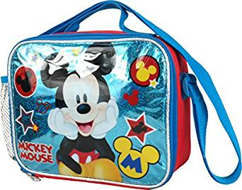Lunch Bag Disney Mickey Mouse Blue Stars Kit Case New 683597 by Ruz