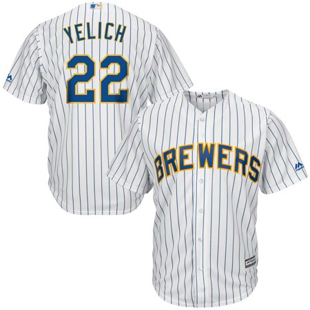 Milwaukee Brewers Jersey - Christian Yelich Milwaukee Brewers Majestic Alternate Official Cool Base Player Jersey - White/Royal