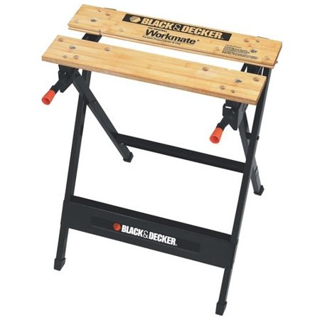 Black & Decker Workmate Portable Project Center and Vise - 350 lb Load Capacity - Steel, Wood, Steel Frame, Tabletop, Leg -