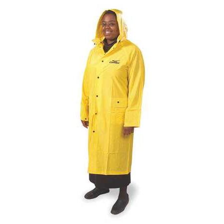 CONDOR Rain Jacket w/Hood,Unisex,Yellow,L 5AZ31