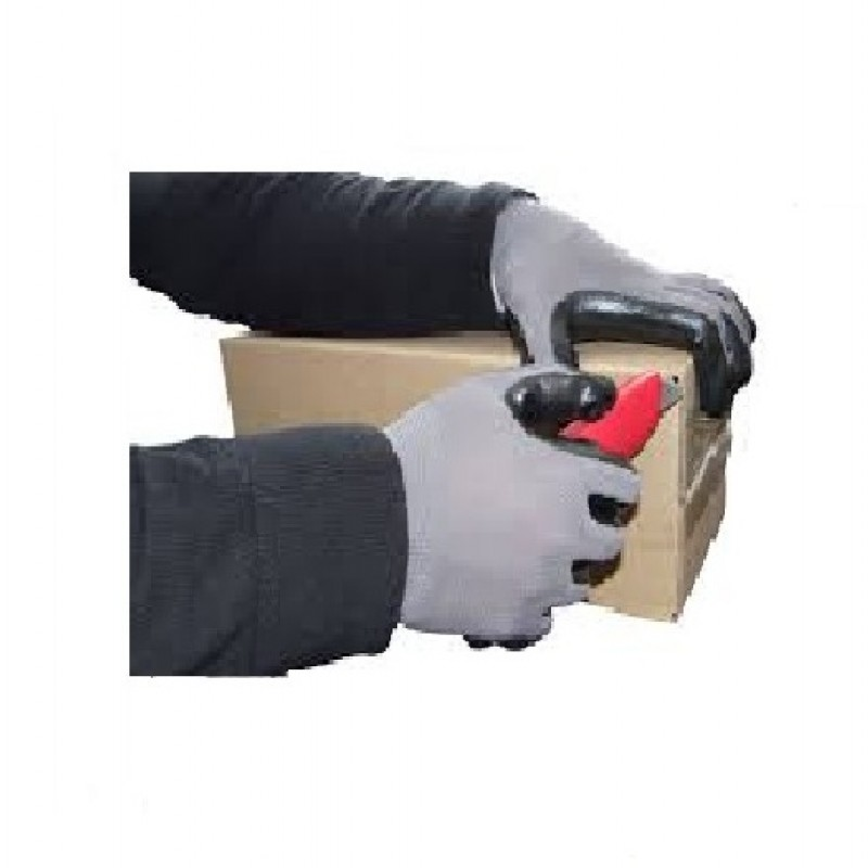 Small Size Grey Nitrile Dipped Gloves, Industrial Grade 48 Pairs