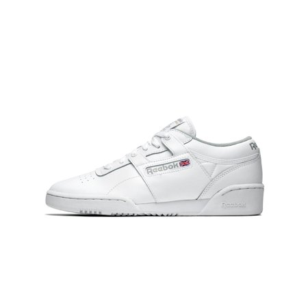 8b1b09394eb00 Reebok - Mens Reebok Workout Low White Grey CN0636 - Walmart.com