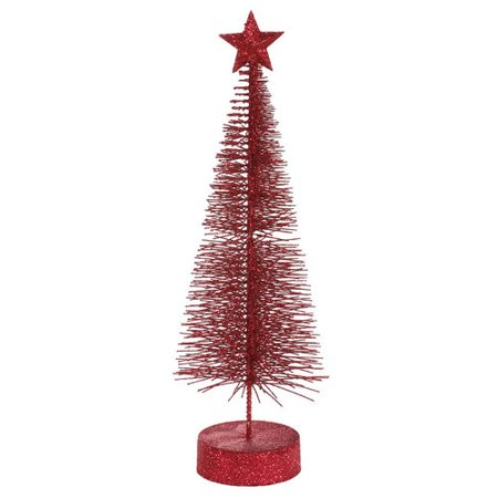 Vickerman Glitter Sisal Artificial Table Top Christmas Tree (Pack of 2)