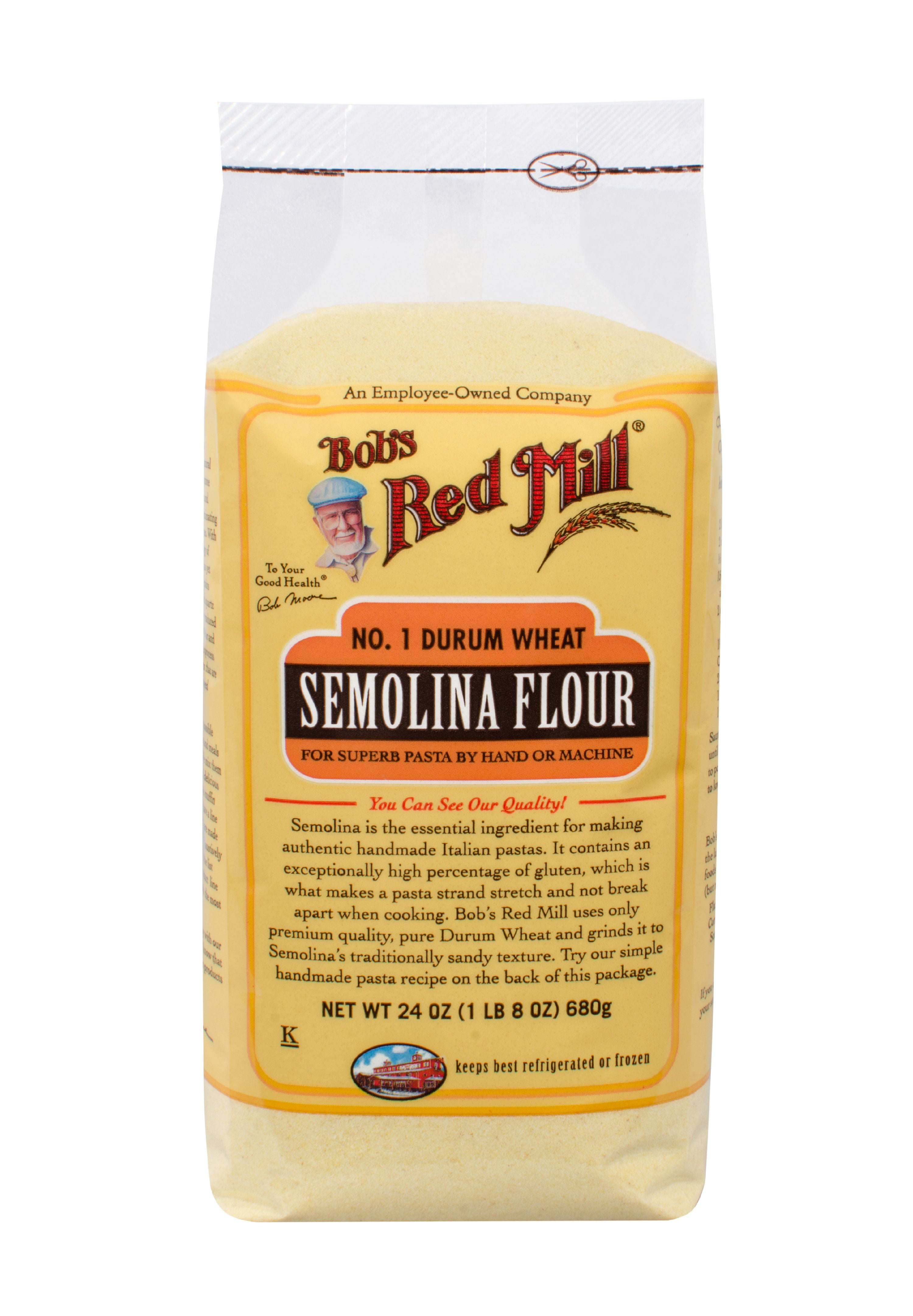 Bobs Red Mill No. 1 Durum Wheat Semolina Flour, 24 oz by Bob'S Red Mill