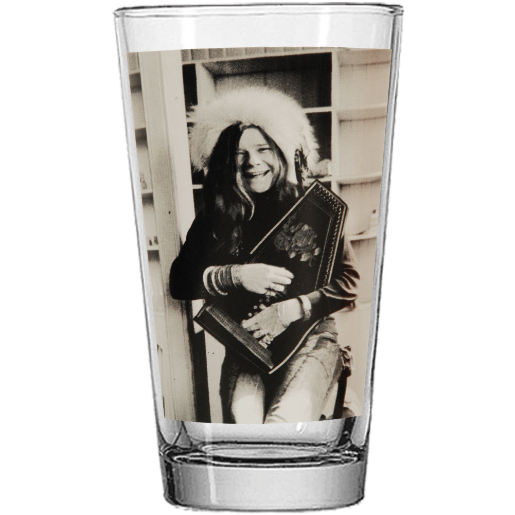 Janis Joplin Pint Glass by Funky People