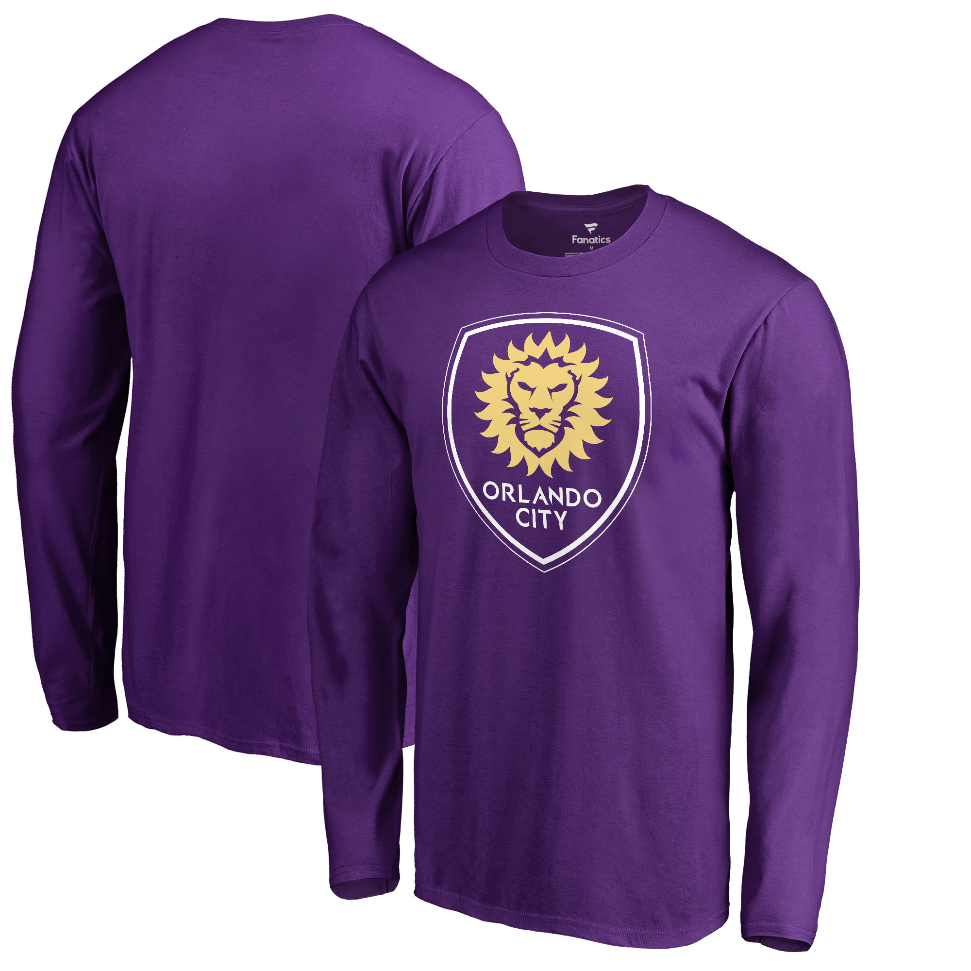 Orlando City SC Fanatics Branded Primary Logo Long Sleeve T-Shirt - Purple