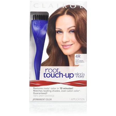 Nice 'n Easy Root Touch-Up 4R Kit (Pack of 2), Matches Dark Auburn/Reddish Brown Hair Color Shades, Superior Grey Coverage