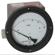 MIDWEST INSTRUMENT 220-SC-02-O(JAA)-30P Pressure Gauge,0 to 30 psi