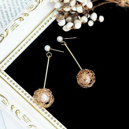 Korean Wound Wire Ball Ear Studs Ear Nails Alloy Earrings Women Fine Jewelry - image 1 de 4