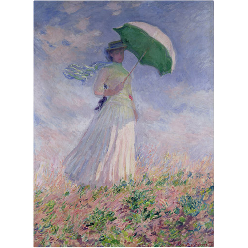 "Trademark Fine Art ""Woman With a Parasol"" Canvas Art by Claude Monet"