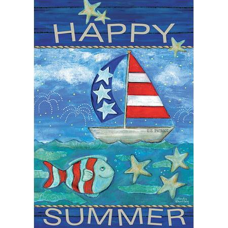 LANG HAPPY SUMMER LARGE FLAG (Large Flag)
