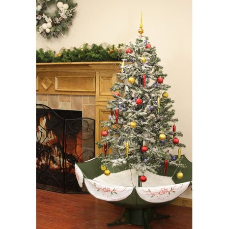 Snowing Christmas Tree.Northlight Seasonal Musical Snowing 5 5 Green White Pine Artificial Christmas Tree With Single Colored Lights