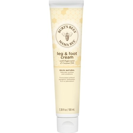 Shikai Skin Foot Cream - Burt's Bees Mama Bee Leg & Foot Cream with Peppermint Oil, 3.38 Ounce Tube