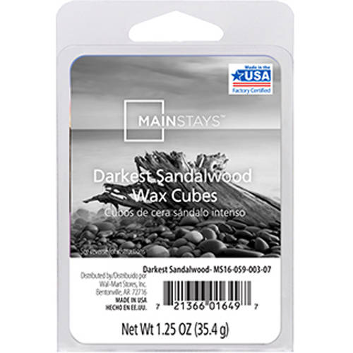 Mainstays Darkest Sandalwood Wax Cubes
