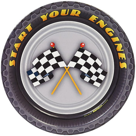 Racecar Racing Party Dessert Plates - Cars Plates